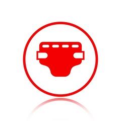 diaper icon stock vector illustration flat design