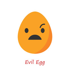 Banner Egg Emotions. Vector illustration.