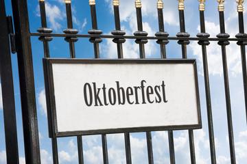 Schild 172 - Oktoberfest