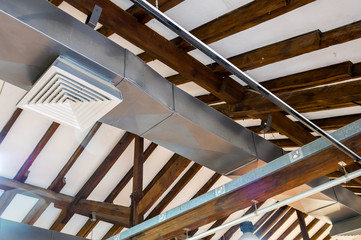air conditioning, ventilation pipe under the ceiling