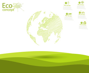 The concept of ecology to save the planet.
