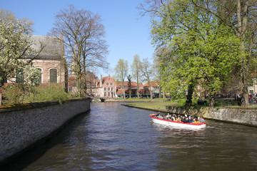 Minnewaterpark, Brügge, Brugge, Kanalfahrt