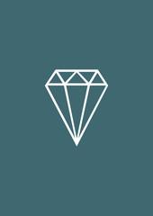 Diamond icon, Vector