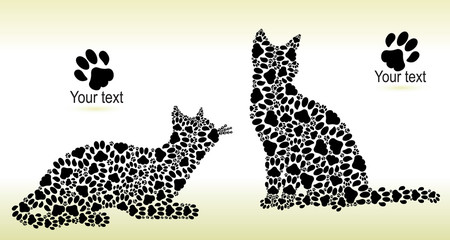 Silhouettes of cats from the cat tracks