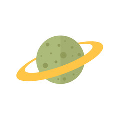 Flat icon - Planet Saturn