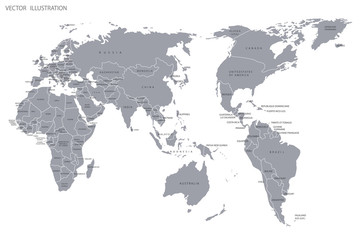Political map of the world.