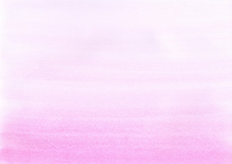 Hand painted watercolor background. Watercolour wash. Pink hand drawn texture. Rose-color gradient background.