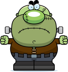 Angry Cartoon Frankenstein