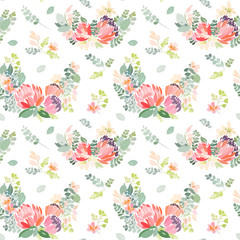 Seamless pattern with floral print.