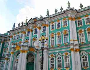 The State Hermitage Museum or the Winter Palace, a former residence of Russian emperors in Saint Petersburg, Russia - July 2016
