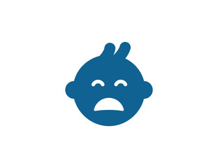 Baby sad flat symbol icon