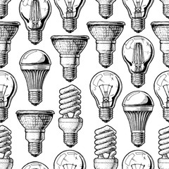 Pattern with different lightbulb