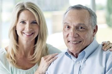Senior man and mature woman