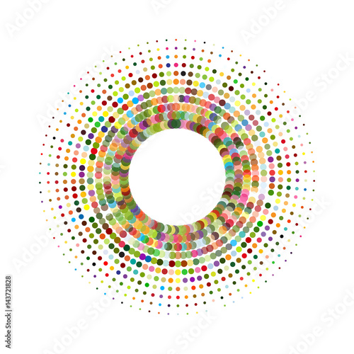 Circle with dots for Design Project. Halftone effect vector ...