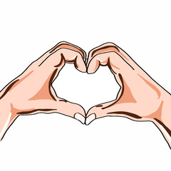 Hand sign heart