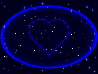 heart abstract star space love