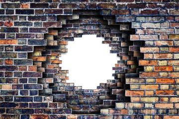 antique broken wall