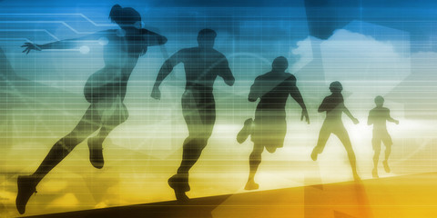 People Running Silhouette