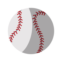 baseball ball icon over white background. colorful design. vector illustration