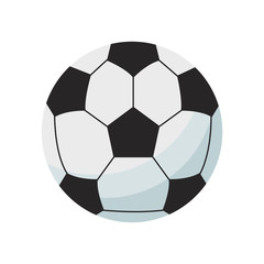 soccer ball icon over white background. colorful design. vector illustration