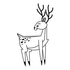 deer animal icon over white background. vector illustration