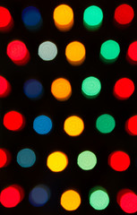 Defocused lights, colorful circles abstraction