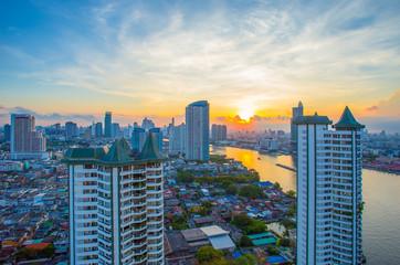 City, Cityscape, Sunset, Urban Skyline, Asia