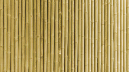 bamboo fence or wall texture background for interior or exterior building design.