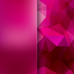 Abstract polygonal vector background. Pink geometric vector illustration. Creative design template. Abstract vector background for use in design