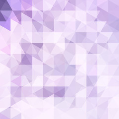 Background of violet, white geometric shapes. Abstract triangle geometrical background. Mosaic pattern. Vector EPS 10. Vector illustration