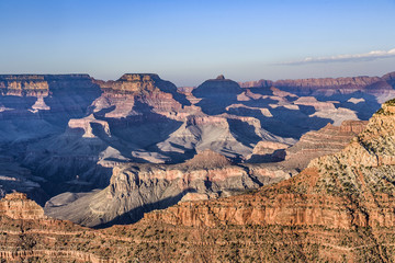 view into the grand canyon from mathers point, south rim