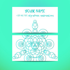 Vintage decorative elements. Business Cards. Ornamental floral. Oriental pattern, vector illustration. Islam, Arabic Indian turkish motifs