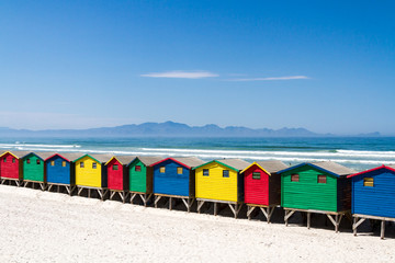 Beach Huts at Muizenberg Beach