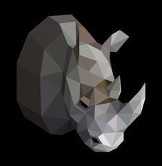 Geometric colored rhinoceros