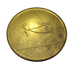 Horusauge - Pyramide - Medaillon.