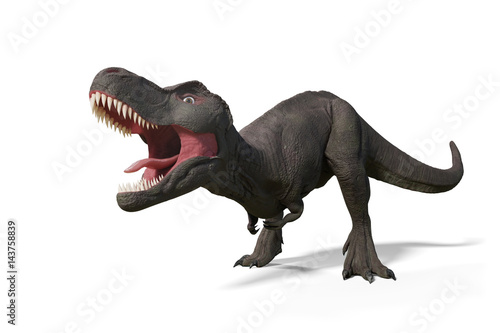 Tyrannosaurus rex, T-rex dinosaur from the Jurassic period (3d illustration isolated on white background)