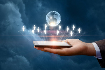Business network in mobile devices .