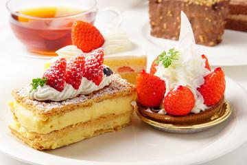 Photo sur Plexiglas Dessert イチゴケーキ