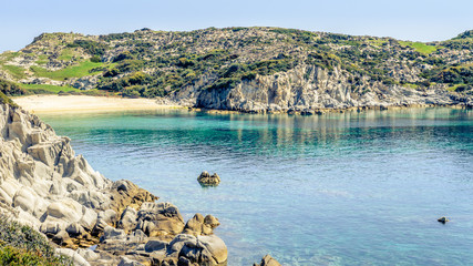 The southernmost part of the peninsula of Sithonia boasts finest sand beaches in Greece, clear waters and breathtaking landscapes. Photo from Kalamitsi, Sitonia, Halkidiki, Macedonia, Northern Greece.