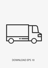 Delivery truck icon, Vector