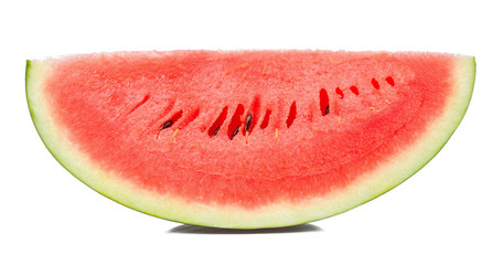 Slice watermelon isolated on the white background