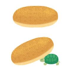 揚げパンとカメ