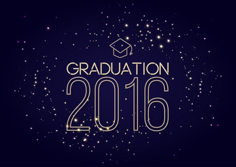 Graduation 2016 class of, shining luxury design