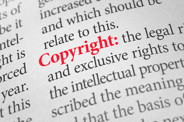 Definition of the word Copyright in a dictionary