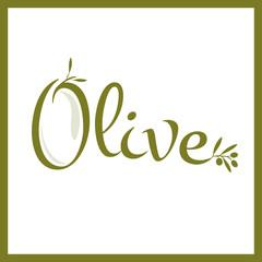 olive typography