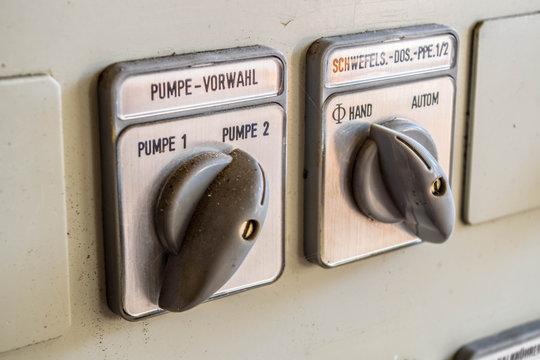 Pumpenschalter in einer Kläranlage