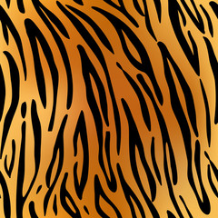 Tiger. Pattern texture repeating seamless. Fashionable background for your design.