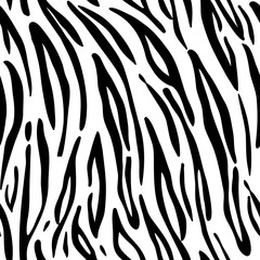 Tiger. Pattern texture repeating seamless monochrome black & white.