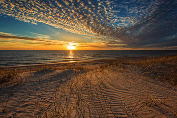 The beauty of the sunset dune