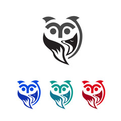 owl and fox logo care